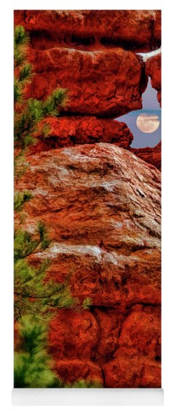Dixie National Forest Moonrise In Ghost Hole Yoga Mat