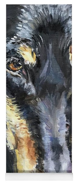 Doberman Oil Painting Yoga Mat