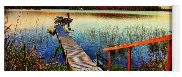 Dock At Gawas Bay Yoga Mat
