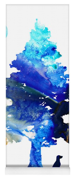Dog Art - Contemplation - By Sharon Cummings Yoga Mat