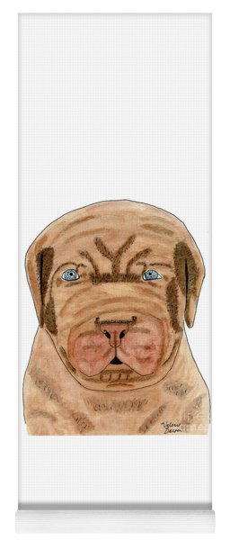 Dog French Mastiff Puppy Watercolor Painting Yoga Mat