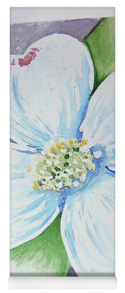 Yoga Mat featuring the painting Dogwood Bloom by Loretta Nash