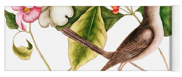 Dogwood  Cornus Florida, And Mocking Bird  Yoga Mat