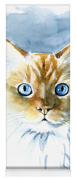 Doll Face Flame Point Himalayan Cat Painting Yoga Mat