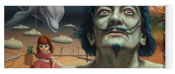 Yoga Mat featuring the painting Dolly In Dali-land by James W Johnson