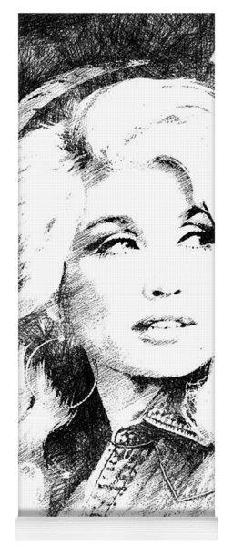 Dolly Parton Bw Portrait Yoga Mat