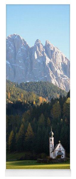 Dolomites Mountain Church Yoga Mat
