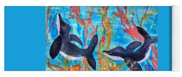 Dolphin Playground Yoga Mat