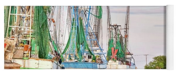 Dolphin Tail - Docked Shrimp Boats Yoga Mat