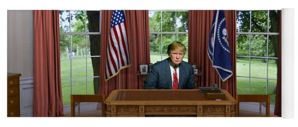 Donald Trump In The Oval Office Yoga Mat