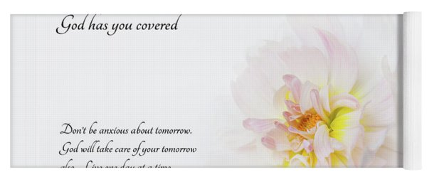 Yoga Mat featuring the photograph Don't Worry With Verse by Mary Jo Allen