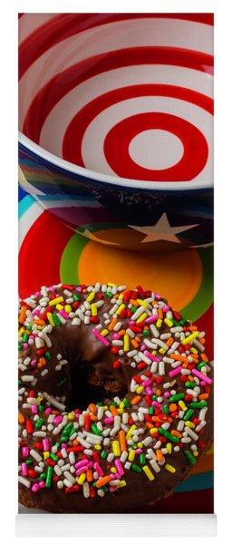 Donut On Circle Plate Yoga Mat