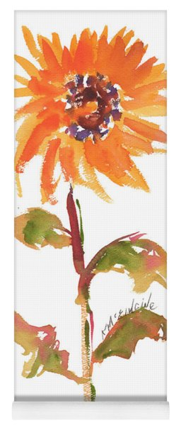 Door Keeper Sunflower Watercolor Painting By Kmcelwaine Yoga Mat