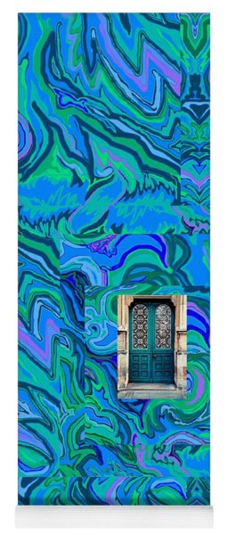 Doorway Into Multi-layers Of Water Art Collage Yoga Mat