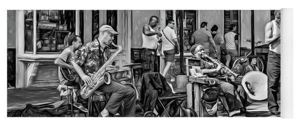 Doreen's Jazz New Orleans 2 - Paint Bw Yoga Mat