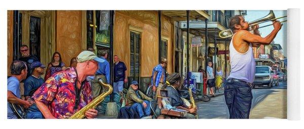 Doreen's Jazz New Orleans - Paint Yoga Mat