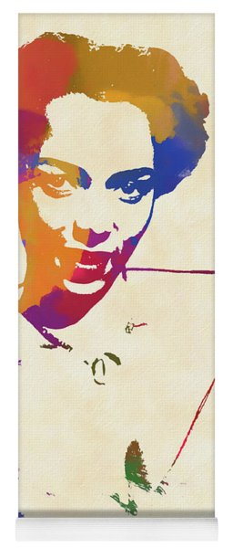 Dorothy Dandridge Watercolor Yoga Mat