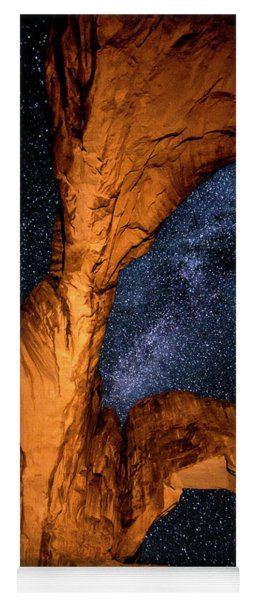 Double Arch And The Milky Way - Utah Yoga Mat