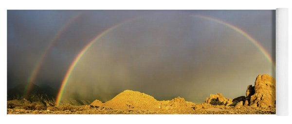 Double Rainbow Gold Yoga Mat