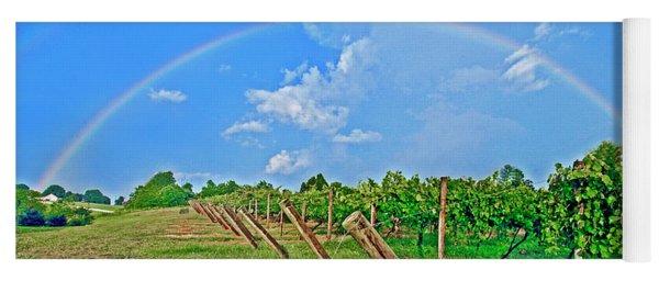 Double Rainbow Vineyard, Smith Mountain Lake Yoga Mat