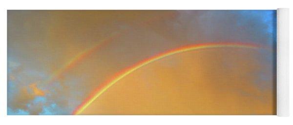 Double Rainbows In The Desert Yoga Mat