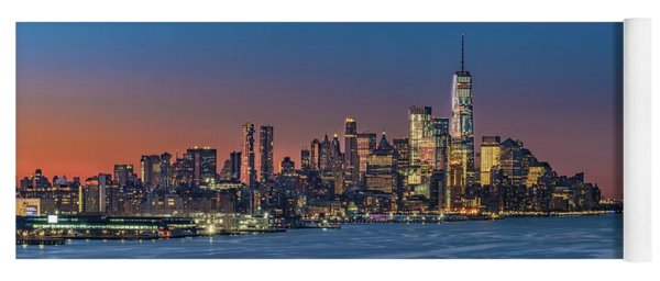 Downtown And Freedom Tower Yoga Mat