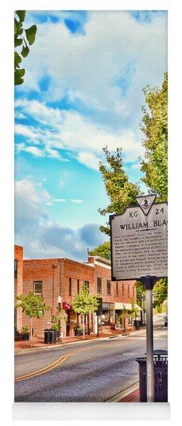 Downtown Blacksburg With Historical Marker Yoga Mat