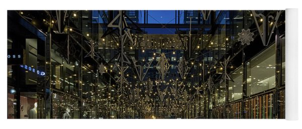 Downtown Christmas Decorations - Washington Yoga Mat