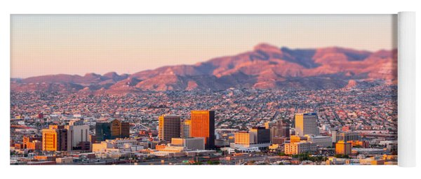 Downtown El Paso Sunrise Yoga Mat