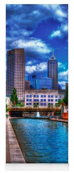 Downtown Indianapolis Canal Yoga Mat