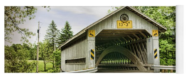 Doyle Road Covered Bridge Yoga Mat