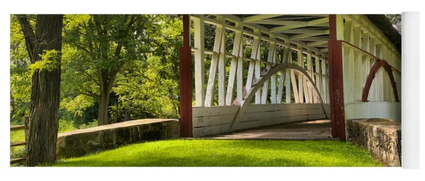 Dr. Knisely Covered Bridge Lush Landscape Yoga Mat