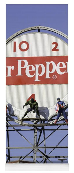 Dr Pepper And The Avengers Yoga Mat