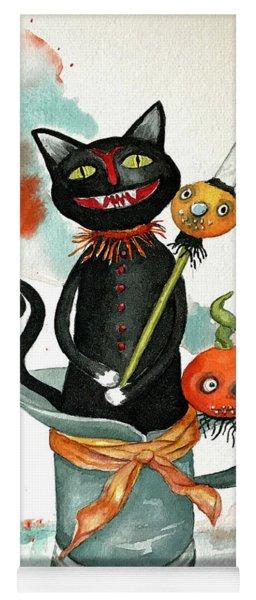 Dracula Vintage Cat Yoga Mat