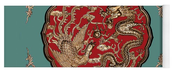 Dragon And Phoenix Yoga Mat