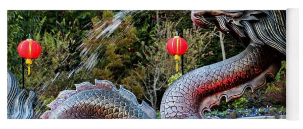 Dragon Fountain Yoga Mat