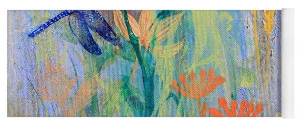 Dragonflies In Wild Garden Yoga Mat
