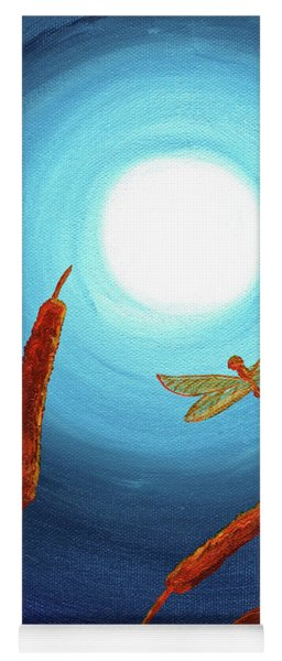 Dragonfly In Teal Moonlight Yoga Mat