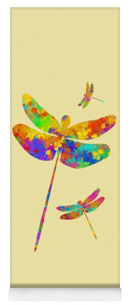 Dragonfly Watercolor Art Yoga Mat