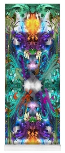 Dragons Of The Temple Yoga Mat