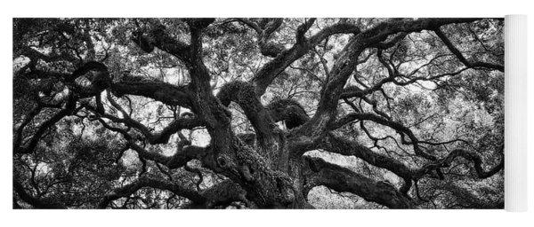 Dramatic Angel Oak In Black And White Yoga Mat