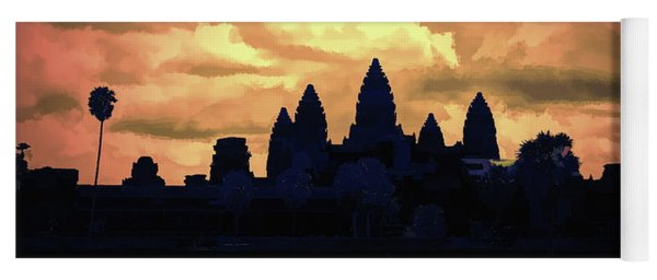 Dramatic Angkor Wat  Yoga Mat