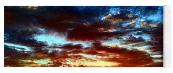 Dramatic Kc Sunset Yoga Mat