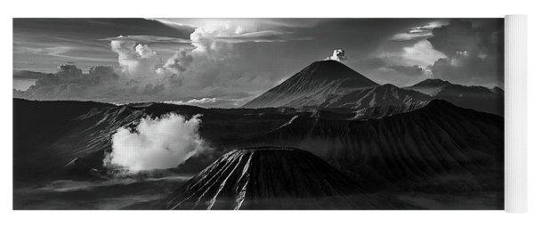 Dramatic View Of Mount Bromo Yoga Mat