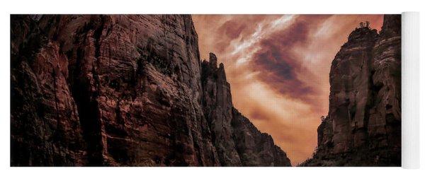 Dramatic Zion National Park Utah  Yoga Mat