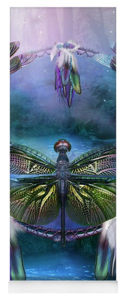 Dream Catcher - Spirit Of The Dragonfly Yoga Mat
