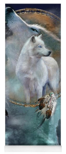 Dream Catcher - Spirit Of The White Wolf Yoga Mat
