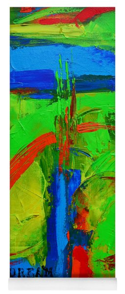 Dream In Green Modern Abstract Art Yoga Mat