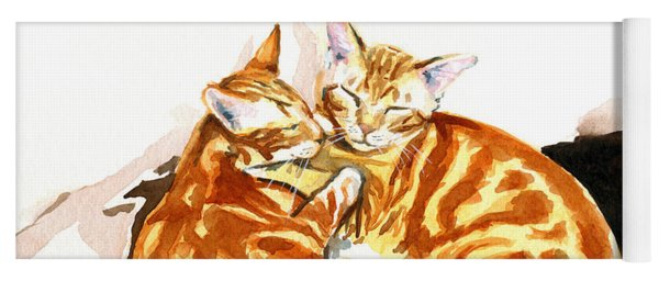 Dreaming Of Ginger - Orange Tabby Cat Painting Yoga Mat