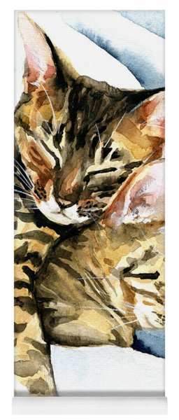 Dreamland - Bengal And Savannah Cat Painting Yoga Mat